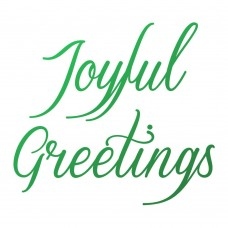 Couture Creations Naughty or Nice - Mini Stamp - Joyful Greetings Sentiment (1pc)